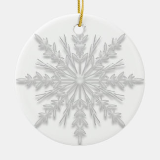 White Winter Snowflake Will You Be My Bridesmaid Round Ceramic Decoration