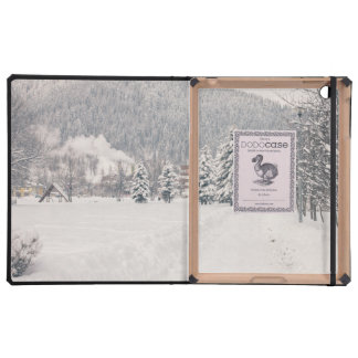 White Winter Wonderland Landscape Case For iPad
