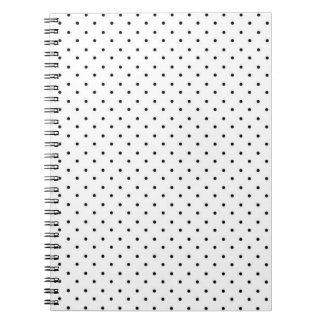 White with Black Polka Dots Notebooks
