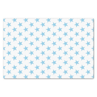 White with blue stars tissue paper