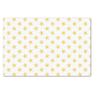 White with gold stars tissue paper