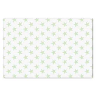 White with green stars tissue paper