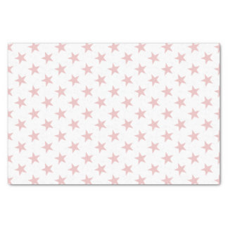 White with pink stars tissue paper