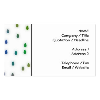 White with rainbow color rain drops business cards