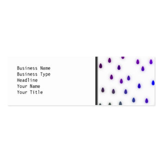 White with rainbow color rain drops. pack of skinny business cards