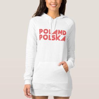 White with Red Text Poland Polska Shirts