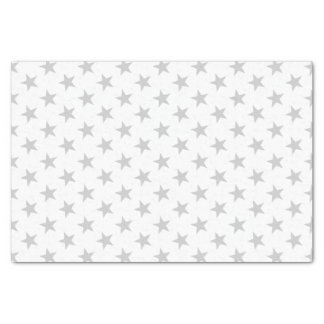 White with silver hearts tissue paper