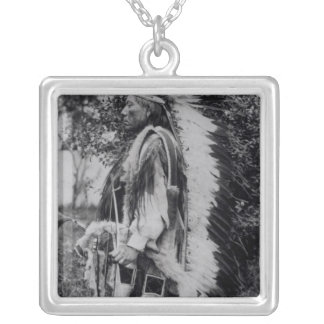 White Wolf, a Comanche Chief, c.1891-98 Silver Plated Necklace