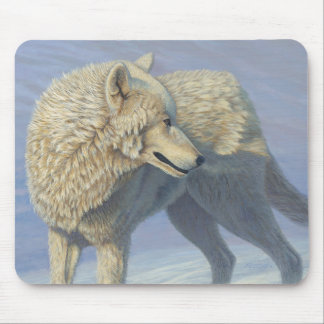 "White Wolf ""Arctic Gaze"" 2 - Mouse Mat"