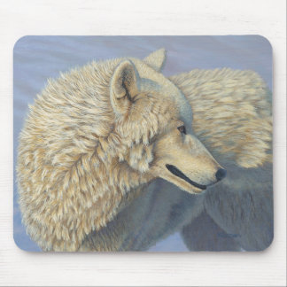 "White Wolf ""Arctic Gaze"" 3 - Mouse Mat"