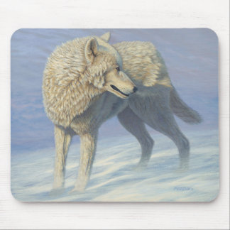 "White Wolf ""Arctic Gaze"" - Mouse Mat"