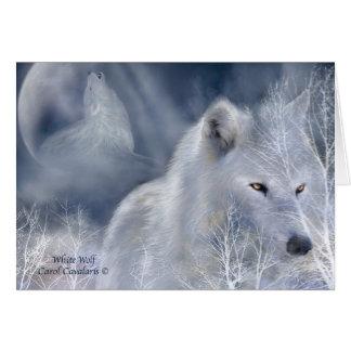 White Wolf ArtCard Greeting Card