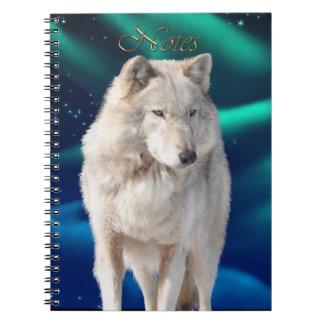 White Wolf & Aurora Wildlife-supporter Notebook