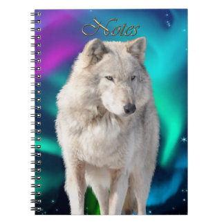 White Wolf & Aurora Wildlife-supporter Notebook