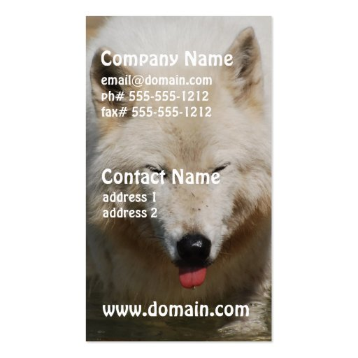 White Wolf Business Card Templates