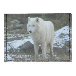 White Wolf in Winter Tyvek® Card Wallet