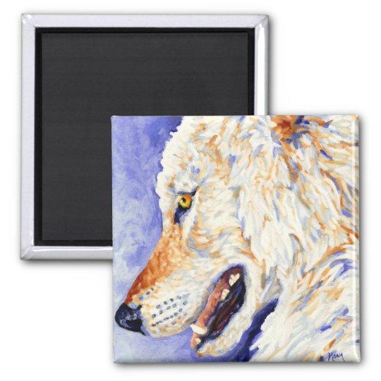 White Wolf Magnet