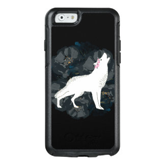 White Wolf on Circle of Black Roses Case
