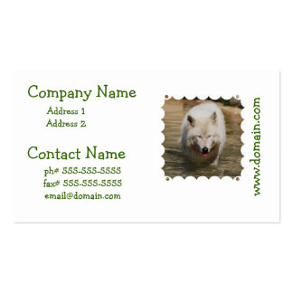 White Wolf Pack Of Standard Business Cards