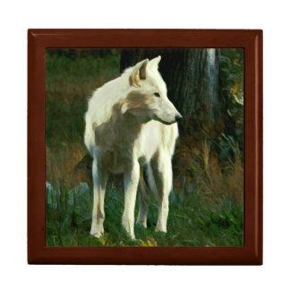 White Wolf Painting Gift Box