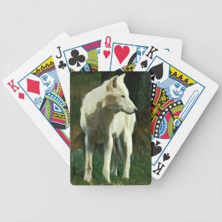 White Wolf Painting Poker Deck