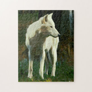 White Wolf Painting Puzzle