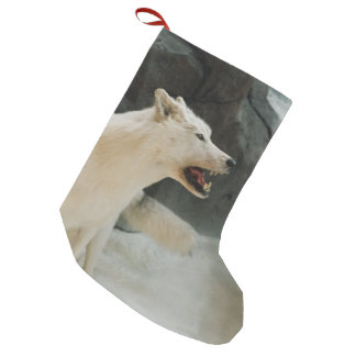 White Wolf Small Christmas Stocking
