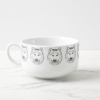 White Wolf Soup Mug
