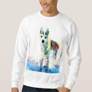 white wolf sweatshirt