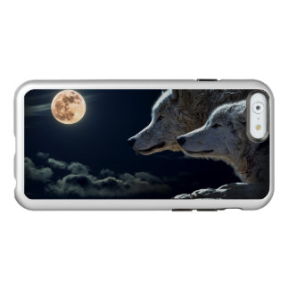 White Wolves in the Full Moon Incipio Feather® Shine iPhone 6 Case