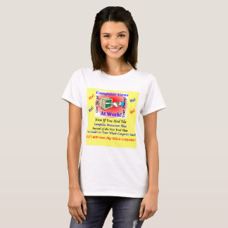 White Women's T-Shirt Computer Virus