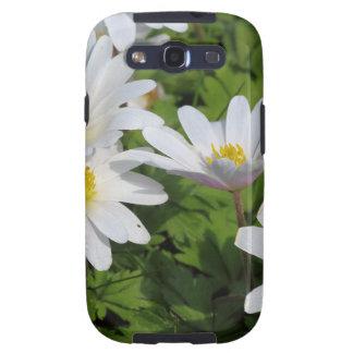 White Wood Anemone Samsung Galaxy S3 Covers