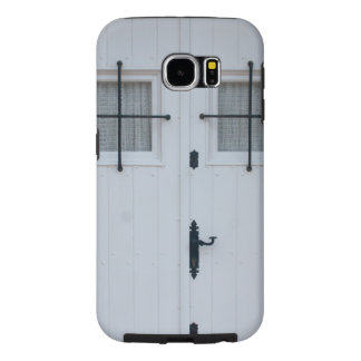 White Wooden Door With Black Wrought Iron Bars Samsung Galaxy S6 Cases