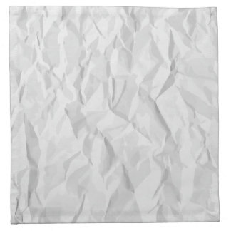 White wrinkled paper texture printed napkins