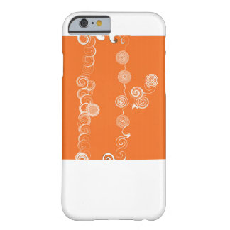 White wrinkles on orange surface for Iphone Barely There iPhone 6 Case