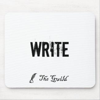 White WRITE Mousepad