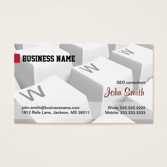 White WWW keyboard Internet Business Card