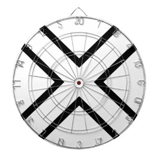 White X Cross Dart Board