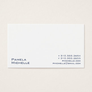 White XVI Business Card