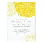 White Yellow Chrysanthemum Wedding Invitation 13 Cm X 18 Cm Invitation Card