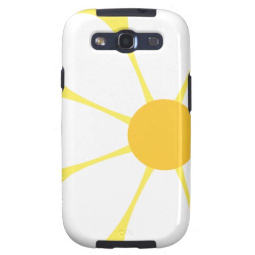 White & Yellow Daisy Flower Samsung Galaxy SIII Case