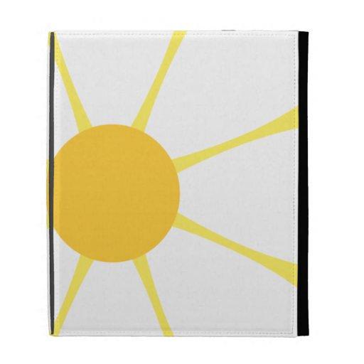 White & Yellow Daisy Flower iPad Folio Case