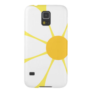 White & Yellow Daisy Flower Case For Galaxy S5