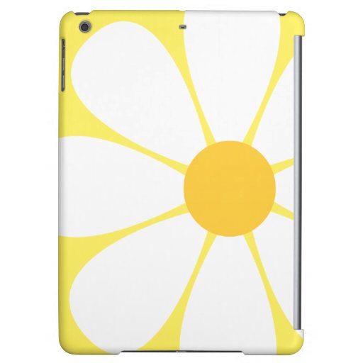 White & Yellow Daisy Flower Cover For iPad Air