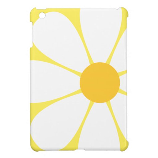 White & Yellow Daisy Flower iPad Mini Case