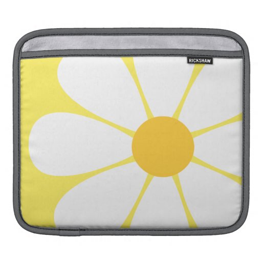 White & Yellow Daisy Flower Sleeves For iPads