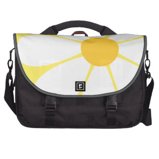 White Yellow Daisy Flower Laptop Computer Bag