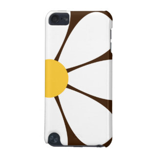 White & Yellow Daisy Flower on Brown iPod Touch 5G Cover