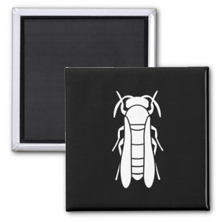 White Yellow Jacket Insect Graphic Square Magnet