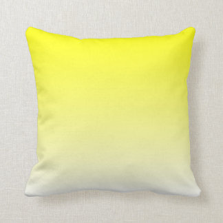 White Yellow Ombre Cushion